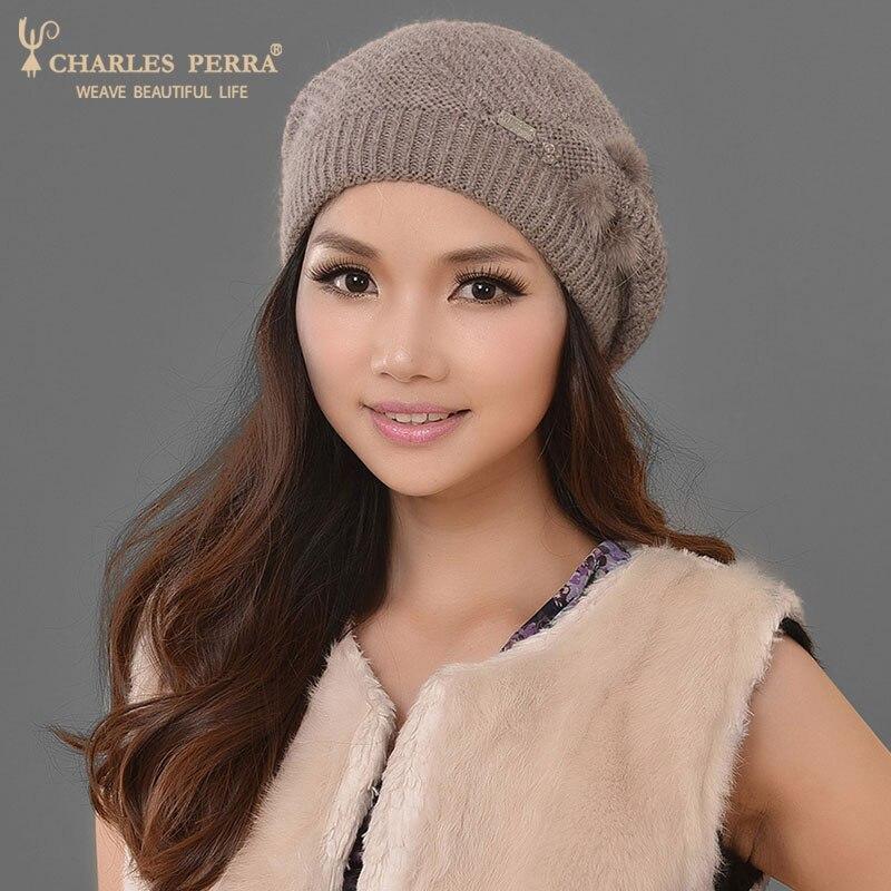 Charles Perra Mujer Sombreros Invierno Espesar Doble capa Sombrero de - Accesorios para la ropa - foto 4