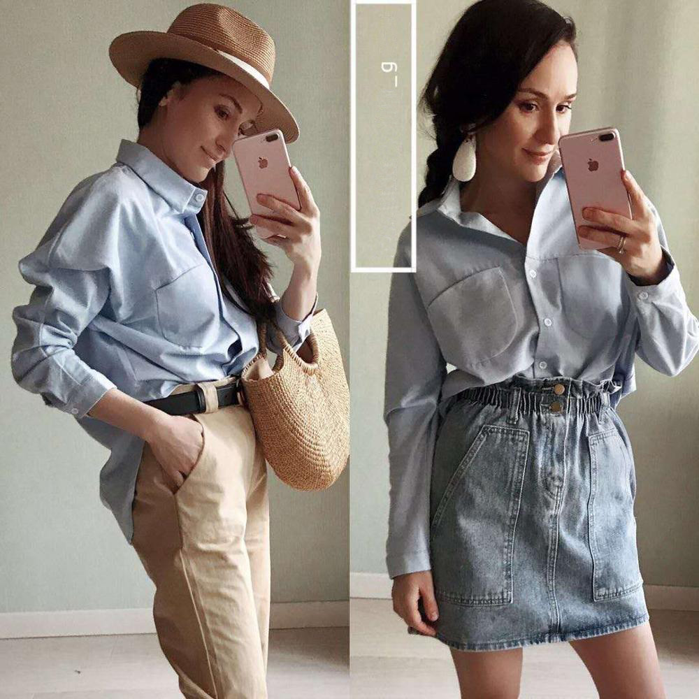 2019 Spring Women Summer Blouse Korean Long Sleeve Womens Tops And Blouses Vintage Women Shirts Blusas
