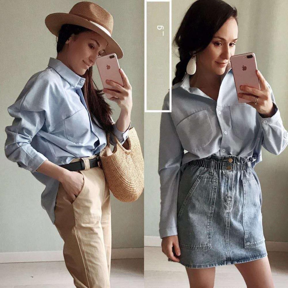 Blouse Korean Long Sleeve Tops And Blouses Vintage Women Shirts 4