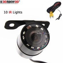 Koorinwoo 2019 HD CCD Vehicle 10 Infrared IR Lights Car Rear view camera