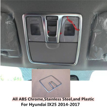 Горячий автомобиль Стик ABS Хром Передняя головной чтение выключатель света лампы рамка Отделка 1 шт. для Hyundai ix25 2014 2015 2016 2017
