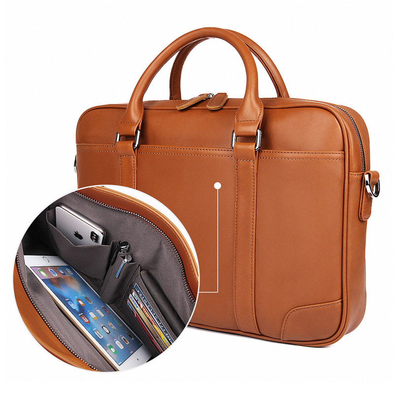 Nesitu Black Brown Genuine Leather Office Men Briefcase Messenger Bags Real Skin Business Travel Bag 14 Nesitu Black Brown Genuine Leather Office Men Briefcase Messenger Bags Real Skin Business Travel Bag 14'' Laptop Portfolio M7349