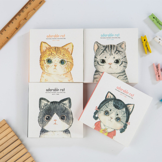 Historieta Linda Adorable Gato Cubierta Dibujo Tapa Dura Libreta