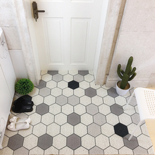 Nordic INS Entrance hall carpet PVC wire loop mat Small fresh flower Door Living room floor bathroom non-slip rug