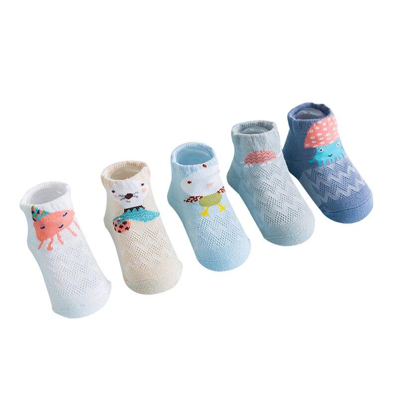 все цены на 5 Pairs/lot Newly Baby Socks Cotton Cute Cartoon Animal Baby Socks For Girls Boys Socks Newborn Baby Girl Kids Mesh Soft Socks