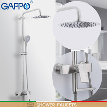 GAPPO baterie prysznicowe ze stali nierdzewnej prysznic kran zestaw do montażu na ścianie prysznic zawory mieszające powierzchni kran torneira do banheiro
