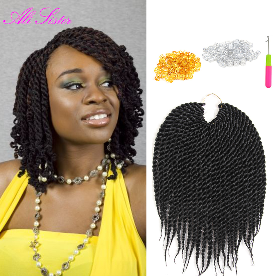 10 inches senegalese twist hair crochet braids havana mambo twist ombre braiding hair crochet - Crochet braids avec xpression ...