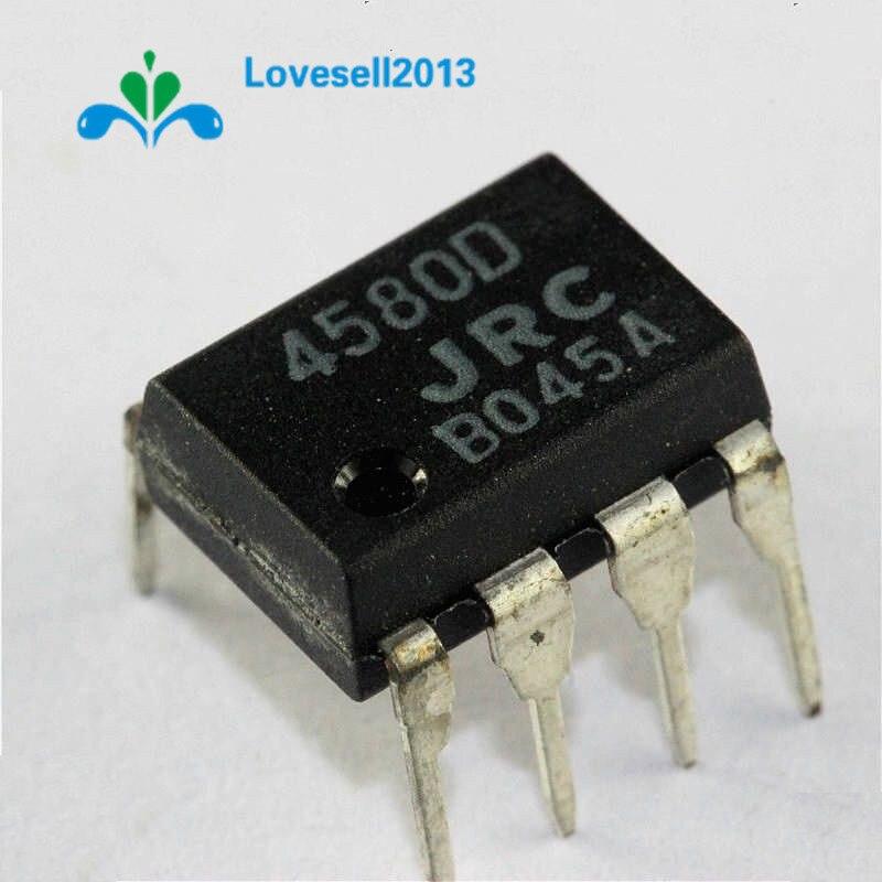 10PCS NJM4580D JRC4580D JRC 4580D DIP-8 CHIP IC