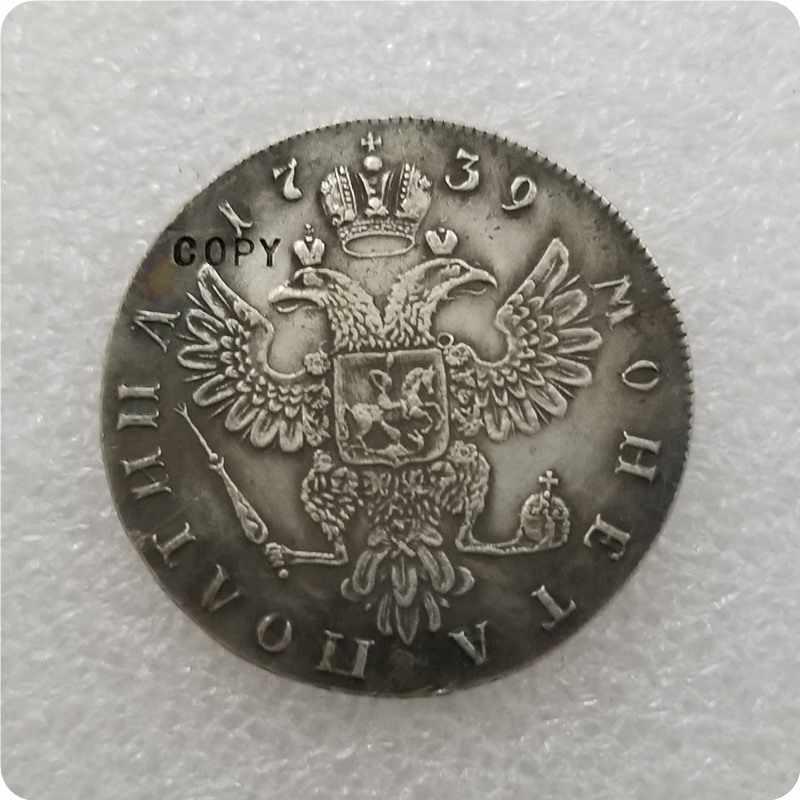 1739 Russia Poltina Copy Coin commemorative coins-replica coins medal coins collectibles
