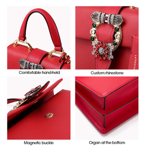 Image 5 - LAFESTIN 2018 Women Handbag Brand Designer Diamonds Real Leather Bag Fashion Women Totes Shoulder Luxury brands Bag bolsa