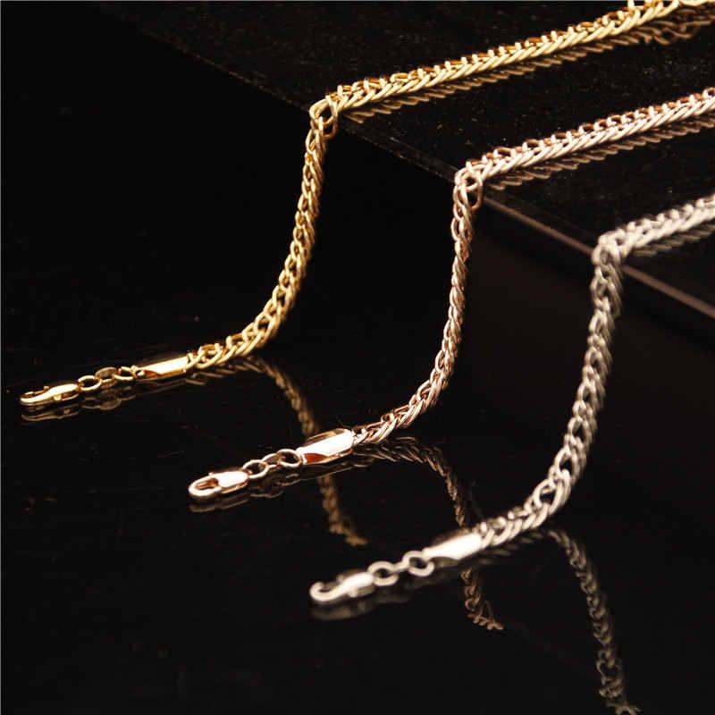 Vòng Đeo Tay thời trang Cho Nam Giới Phụ Nữ Vàng/RoseGold/Bạc Bangles Curb Cuba Liên Kết Chuỗi Vòng Đeo Tay Đồ Trang Sức Bên Món Quà
