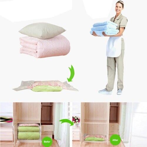 Экономия пространства Сумки для хранения Герметичный вакуумный компрессионный Органайзер сумка портативный шкаф для хранения одежды