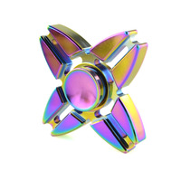 Four Corners Crabs Hand Spinner Rotating Torqbar Attention For Autism ADHD Tip Gyro Aluminum Ball Rainbow