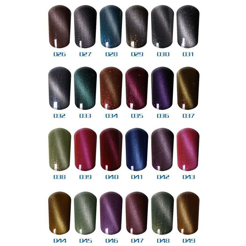 Guaranteed 100 Gel Nail Polish Canary Charm 6pcs Set Cat Eyes Uv Free Shipping Magnetic Stick As Gift In From Beauty Health