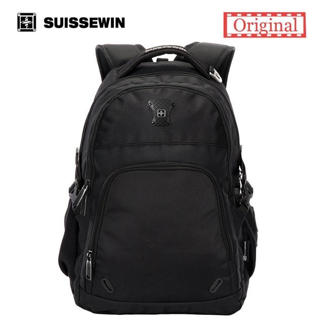 Suissewin Orthopedic School Backpack for Teenagers Back To School Bag Boy  School Satchel Swiss 15.6
