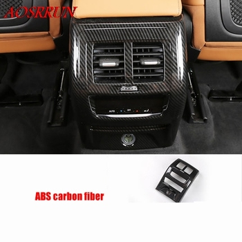 fit For BMW X3 G01 2017 2018 2019 Armrest Box Rear Air Conditioning AC Vent Outlet Molding Cover Kit Trim car Accessories 1PCS image