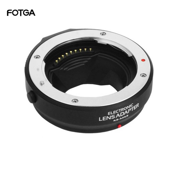 FOTGA Auto Focus Adapter Ring for Four Thirds 4/3 lens to Olympus Panasonic Micro 4/3 MMF3