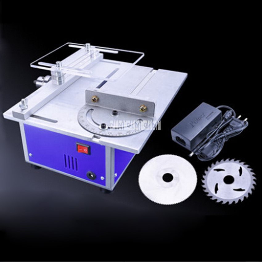 DIY Multi-function Miniature Table Saw DC4d Woodworking Sawing Saws Cutting Model Saw Cutting Machine DC 12v-24v 1.5A 1-10mm precision woodworking saws mini table saws metal cutting machines model saws dc 12 24v 5000 rpm a00 b20