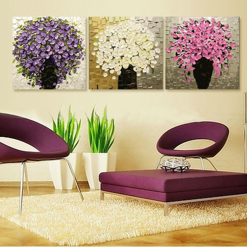 Online Buy Wholesale Purple Kitchen Decor From China: Online Buy Wholesale Purple Flower Painting From China