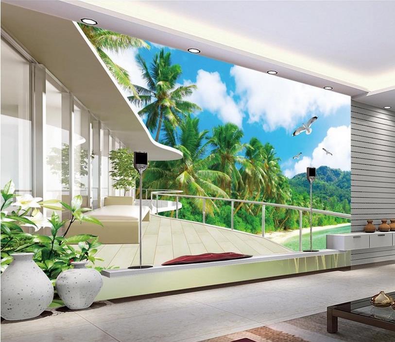 Paisajes para paredes encargo de la foto d murales de for Vinilos pared paisajes