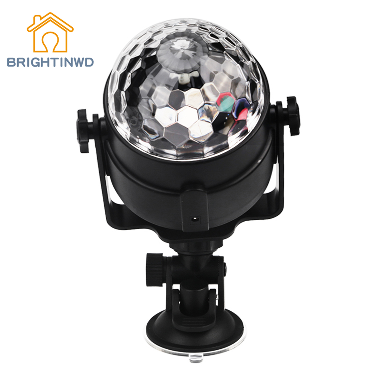 BRIGHTINWD Sound Activated Projector Party Disco Club DJ Light Mini RGB LED Crystal Magic Ball Stage Effect Lighting Lamp Bulb