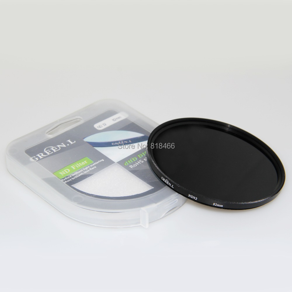 GREEN.L ND32 ND64 nd1000 nd2000 ND filter Neutral Density Lens Filter 49/52/55/58/62/67/72/77 for canon nikon SONY dslr Camera