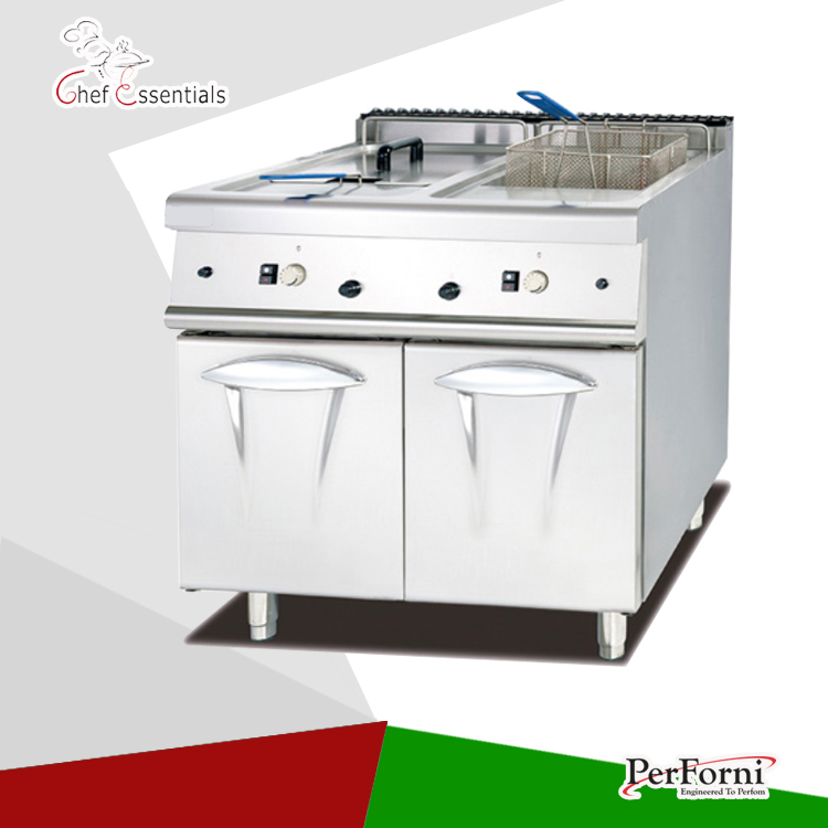 PKJG-985.2 Gas Fryer ( 2 tank & 2 basket) with Cabinet, 900 series, for Commercial Kitchen salter air fryer home high capacity multifunction no smoke chicken wings fries machine intelligent electric fryer