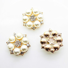 hot deal buy nidalee 25mm pearl rhinestone flatback buttons  alloy acrylic diy wedding accessories mobile phone shell bow hair accessories