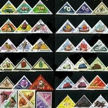50 шт./лот трехугольная форма все разные из многих стран нет повторения неиспользованные почтовые марки для сбора