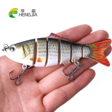 HENGJIA 1PC hard plastic mutil  jointed minnow fishing lures wobbler crankbaits artifical pesca fishing tackles