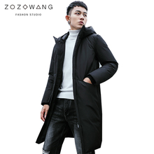 new Winter Jackets Men Casual Mid Long Thick Coat Solid Hooded Parka Male Clothes Overcoat Outerwear plus size 3XL