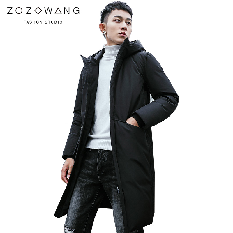 new Winter Jackets Men Casual Mid Long Thick Winter Coat Men Solid Hooded   Parka   Male Clothes Overcoat Outerwear plus size 3XL