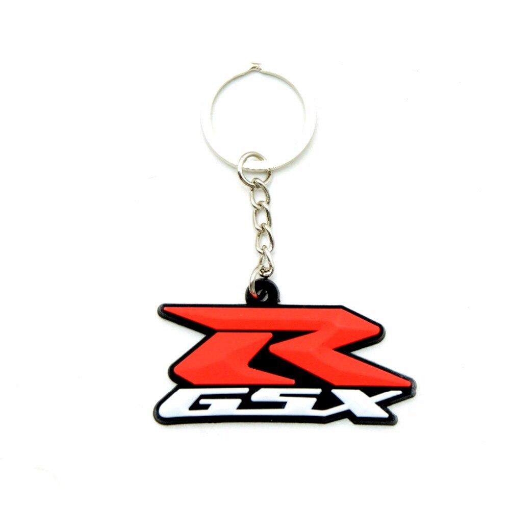 SOFT RUBBER MOTORCYCLE Key Chain Keychain Keyring Key ring FOR Suzuki GSX R 750 GSX R 600 GSX R 1000 SV 650 GSX 650 F