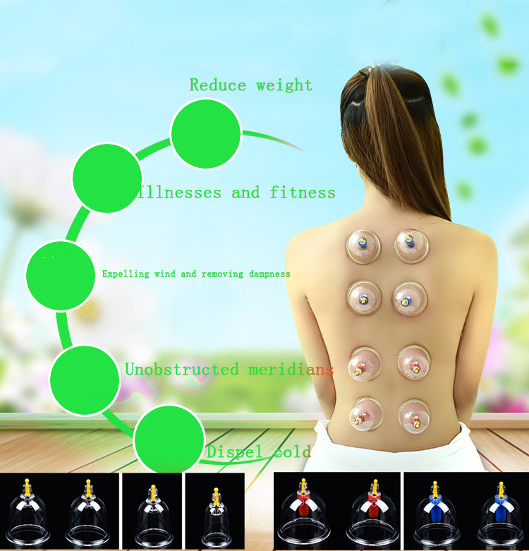 24 Cups Cupping Set Medical Chinese Vacuum Therapy Stress Relief Body Cupping Slimming Massage Therapy Healthy Suction Set 12pcs cups 6pcs magnetic needle extension tube pump chinese modern vacuum healthy cupping set massage therapy suction apparatus
