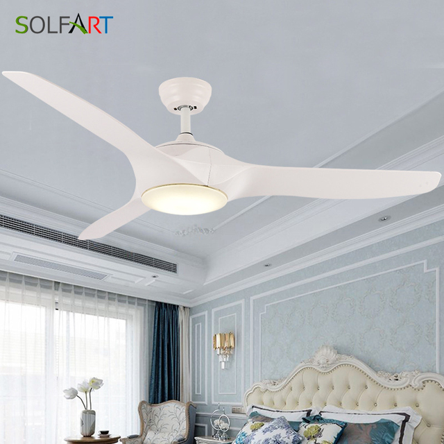 220V LED Ceiling Fan For Living Room  Wooden Ceiling Fans With Lights 52 Inch Blades Cooling Fan Remote Fan Lamp