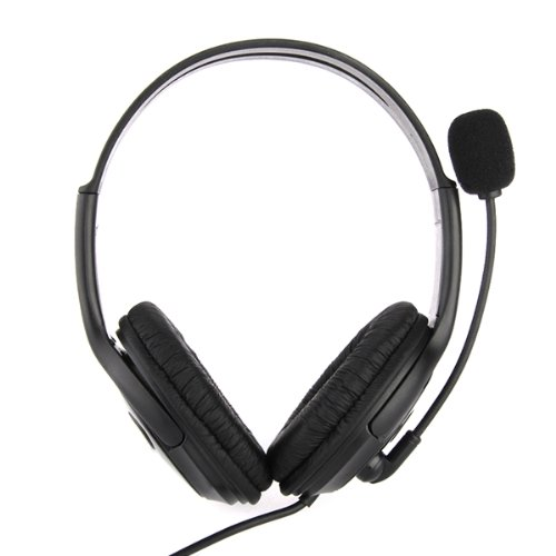 CES Earpiece Microphone Headset Adjustable Volume USB 2.0 for PS3 Console цена и фото