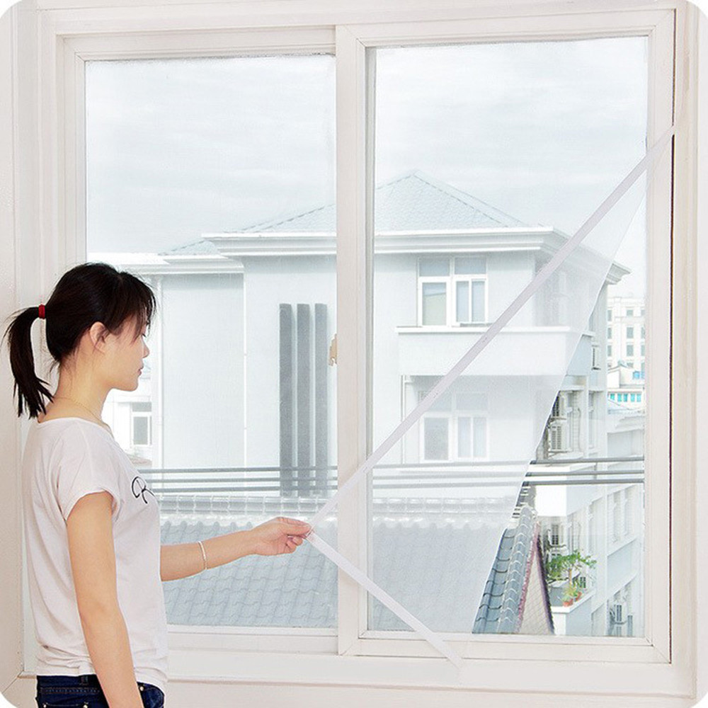 Encrypted Anti-mosquito Screens Non-toxic Indoor Insect Fly Screen White Curtain Mesh Bug Mosquito Netting Door Window Screen