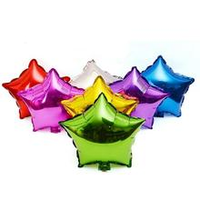 10pcs/lot 10 inch Five Star Promotion Colorful Air Foil Balloon For Party Supply Birthday Advertising Wedding Balloon #45