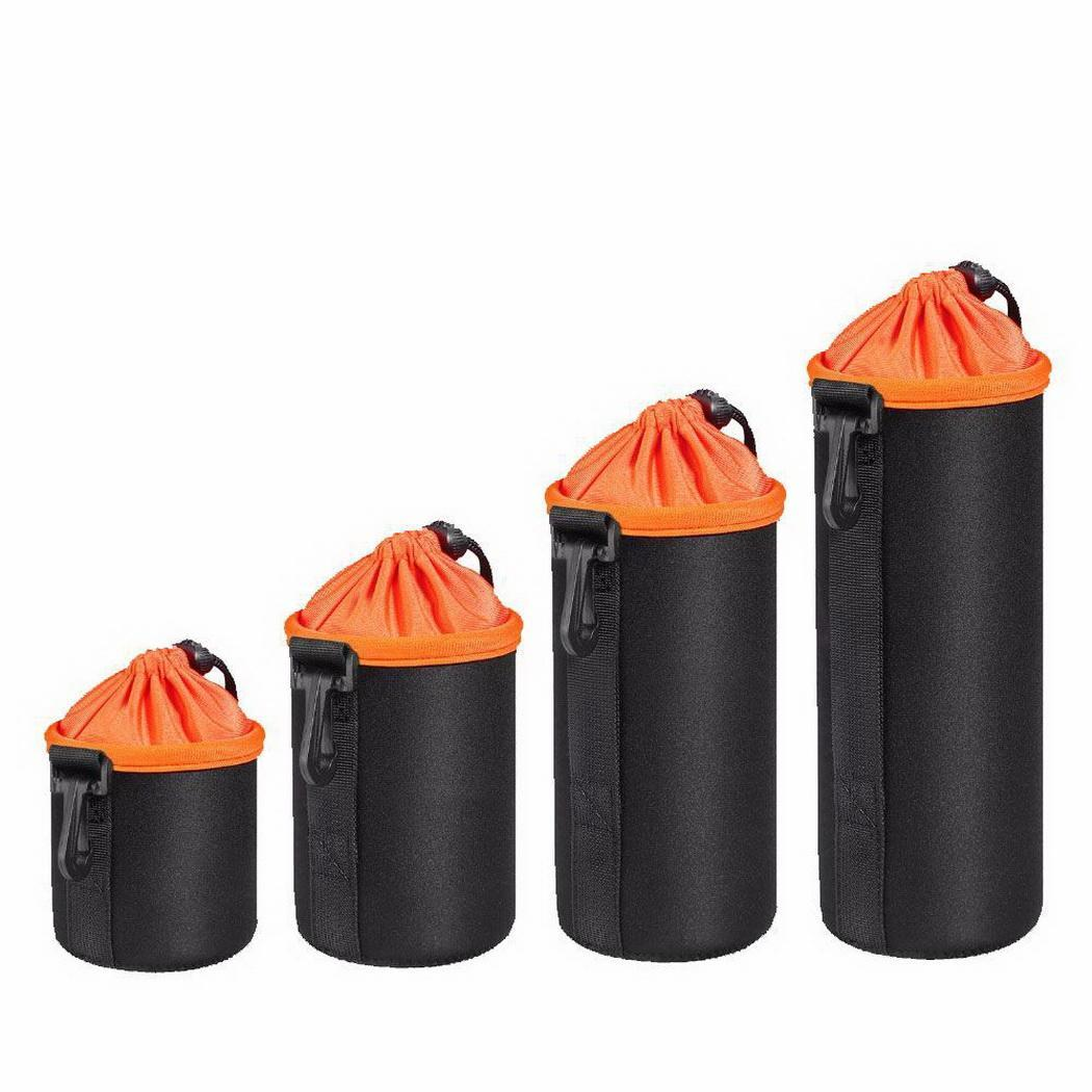 Portable Waterproof Contrast Color Camera Lens Color, Bag 1 Pcs/Set, 4 Pcs/Set Drawstring Storage Pouch