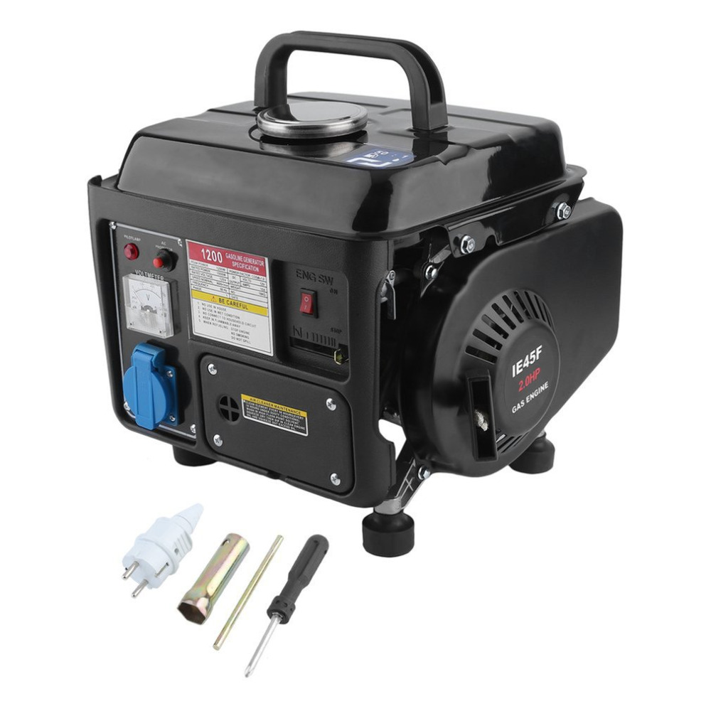 1200W 2HP Portable Electric Gas Powerful 2 Stroke RV Car Vehicle Camping Gasoline Generator Accessories Set Germany Plug