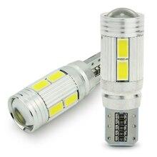 Safego 2pcs 자동차 LED T10 W5W Canbus 194 168 오류 무료 10 smd 5630 LED 전구 led 빛 주차 T10 LED 자동차 사이드 라이트