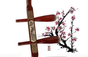 Image 2 - 中国蘇州二胡品質マホガニー骨彫刻二胡プロ 2 弦擦楽器中国二胡