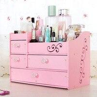 New Style 4 Layers Big Cosmetic Organizer Jewelry Case Brush Holder 5 Drawers Plastic Storage Box