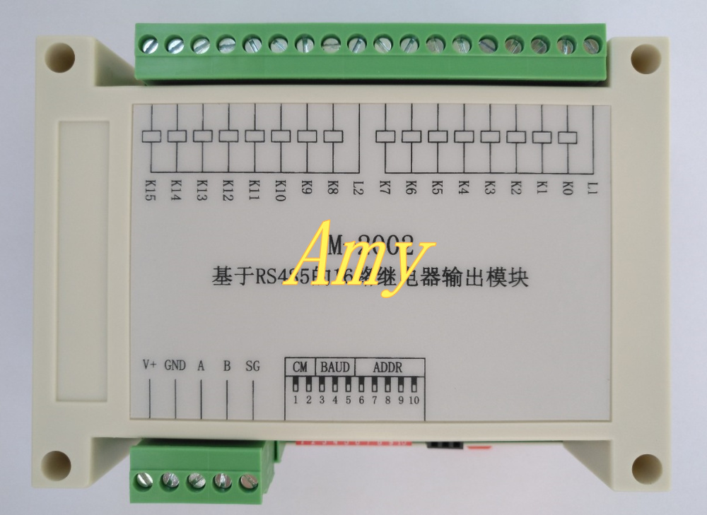 RS485 Acquisition module 16DO Modbus RTU Relay output control