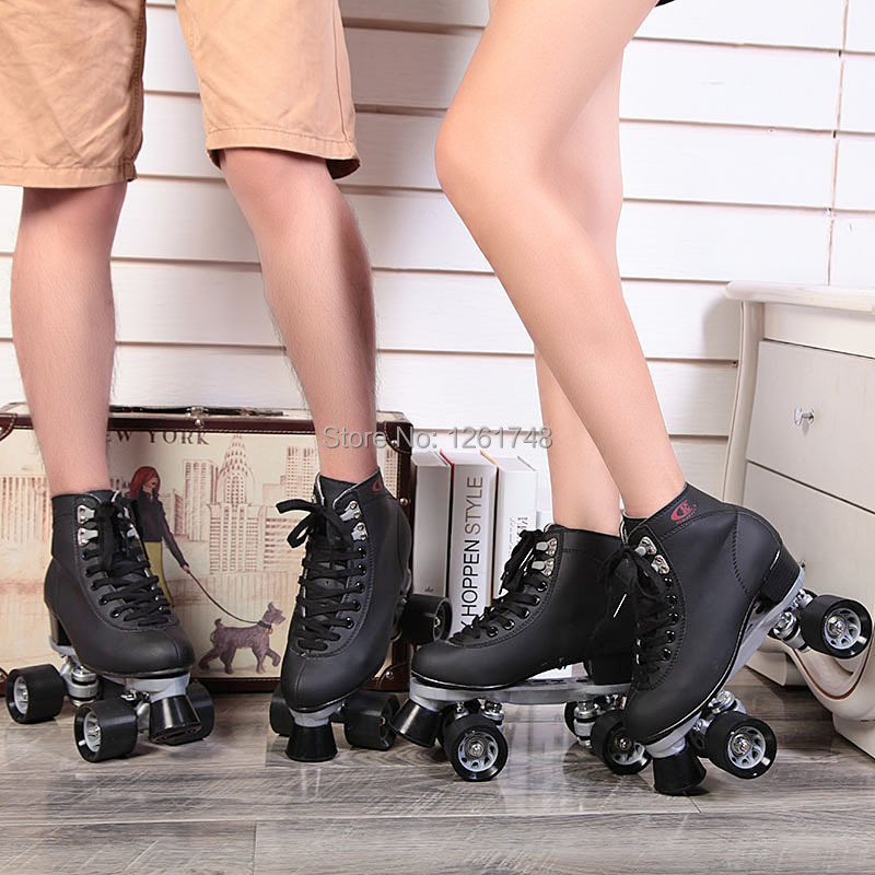 Renee Patins à roulettes Chaussures Double Ligne Patins Adulte Femelle F1 Racing 4 Roues Patins - 3