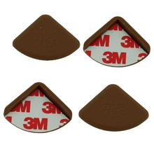 baby chocolate desk table corner safety cushion pad protector 4pcs baby safety