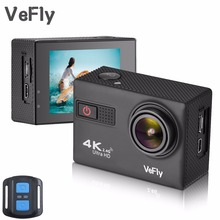 VeFly 4K Ultra HD sport action camera, the waterproof Wi-Fi go pro cam with Anti-Shake electronic GYRO wifi car video kamera(China)