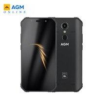 سماعات هاتف AGM A9 JBL بعلامة تجارية مشتركة 5.99 بوصة 4G + 32G/64gG تعمل بنظام الأندرويد 8.1 بطارية 5400mAh IP68 مقاومة للماء للهواتف الذكية بأربع صناديق NFC