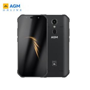 """Image 1 - AGM A9 JBL Co Branding 5.99"""" 4G+32G/64gG  Android 8.1 Rugged Phone 5400mAh IP68 Waterproof Smartphone Quad Box Speakers NFC"""