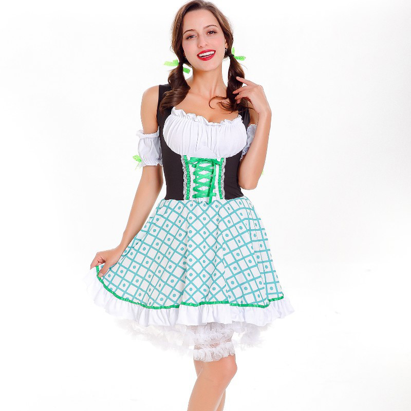 08614864ad Bavarian Clothing German Dirndl Dress Oktoberfest Party Beer Girl ...